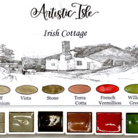 Irish Cottage, handmade watercolor set