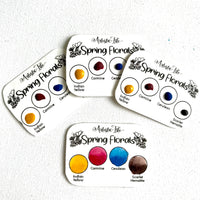 Dot Card-Primary Essentials -Spring Florals, handcrafted Watercolors