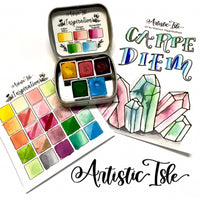 inspiration set, handcrafted watercolor