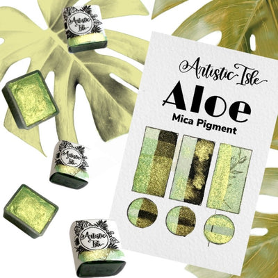 Aloe , light green metallic, iridescent, duo chrome