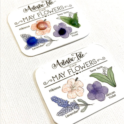 Dot Card-May Flowers, FREE USA SHIPPING