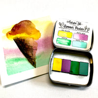 Summer Pastels , watercolor set