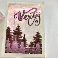 Veritas, chameleon color, pink/red metallic