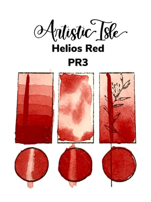 Helios Red, Red, PR3, Handmade Watercolor Paint