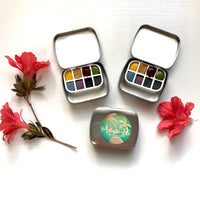 Mini traveler, watercolor set of 8