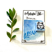 Breeze, medium blue, watercolor paint