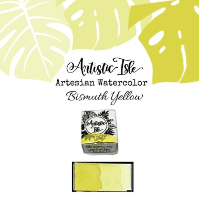 Bismuth Yellow, Yellow PY53, light yellow, handcrafted , watercolor paint