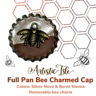 Bee Charmed Cap, Eco, watercolor, paint