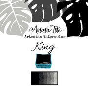 King, Matte black,oxide, black , handcrafted , watercolor paint