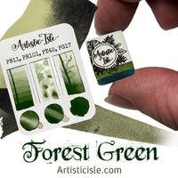 Forest green, green oxide, watercolor