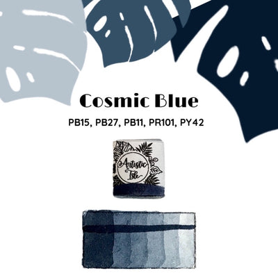 Cosmic Blue, Payne grey, deep blue, blue, handcrafted, watercolor paint