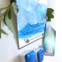 Aquarius, Blue Metallic, Blue , Shimmer, metallic , handcrafted , watercolor paint