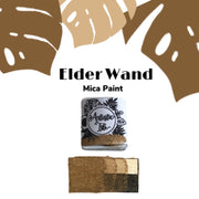 Elder Wand, PotterHead, Caramel, light brown, metallic , handcrafted , watercolor paint
