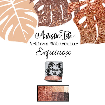 Equinox, Red Gold, Metallic**, copper red, watercolor paint
