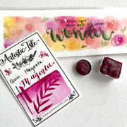 Quinacridone Magenta , watercolor paint, handcrafted watercolor