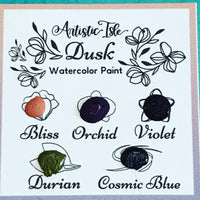 Dusk, handmade watercolor set