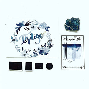 Indigo, watercolor paint