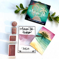 Tahiti, Pink Gold, Metallic***, watercolor paint, handcrafted watercolor