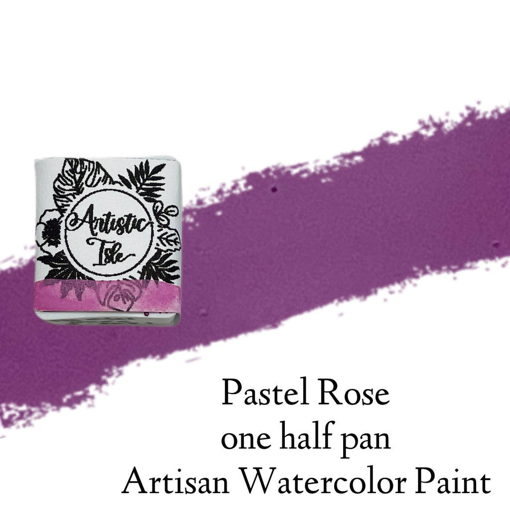 Pastel Rose, light pastel purple, pink, rose, watercolor, handcrafted , watercolor paint