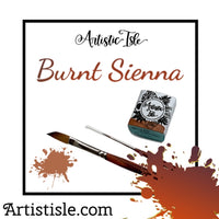 Burnt Sienna, handmade watercolors, PR102