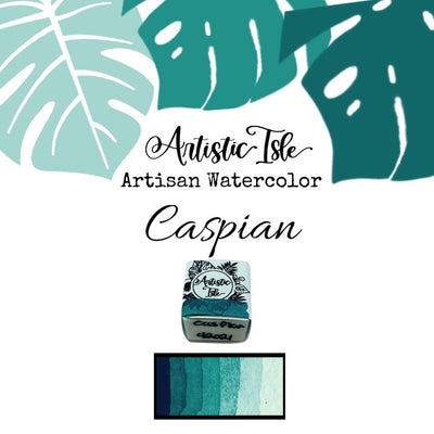 Caspian, teal, semi transparent watercolor paint