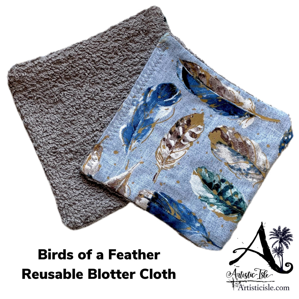 Birds of a feather, reusable blotter cloth, cloth