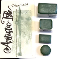 Mermaid, metallic, grey green