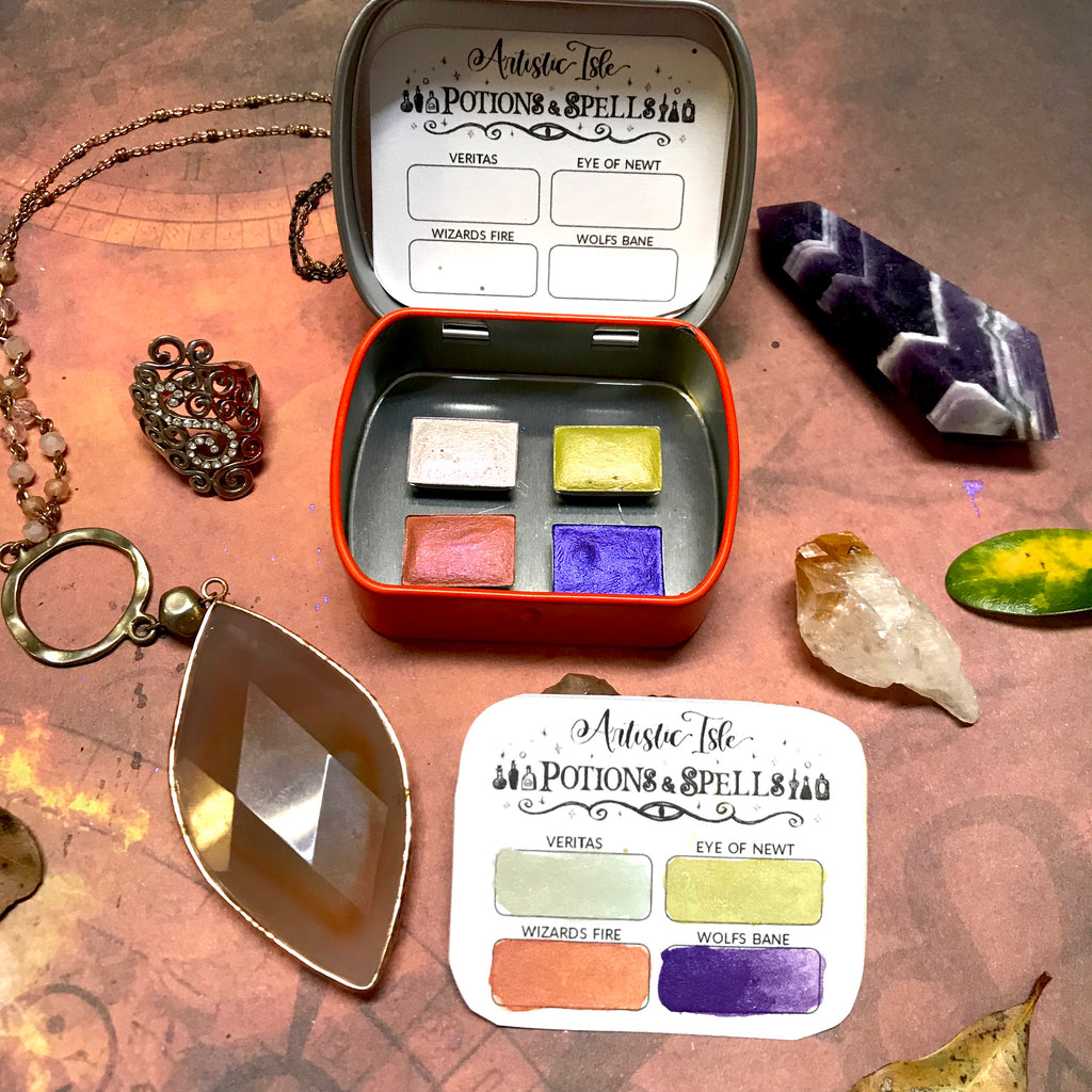 Potions and Spells, Halloween set, handmade watercolors