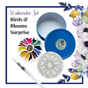 Birds & Blooms Surprise, Watercolor Set