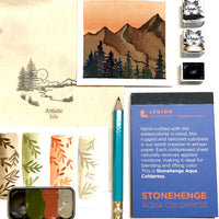 Mountaineer Gift Set, watercolor paint, handmade