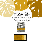 Tuscan Sun, Dark Yellow Ocher, handcrafted , watercolor paint