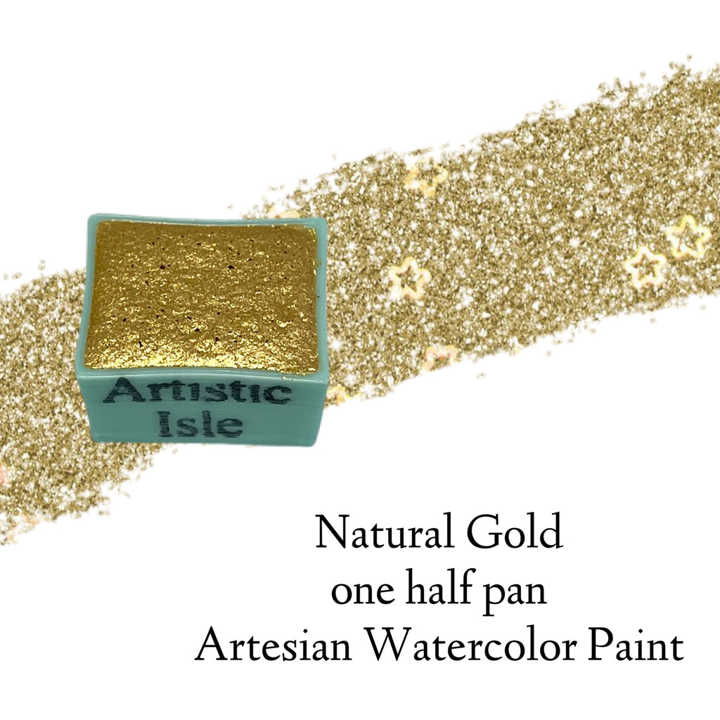 Natural Gold,sparkle , mica, watercolor paint