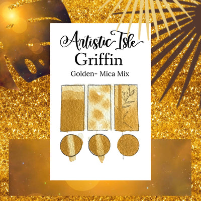 Griffin, deep yellow metallic