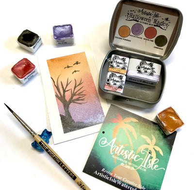 Halloween Magic, Watercolor Set,