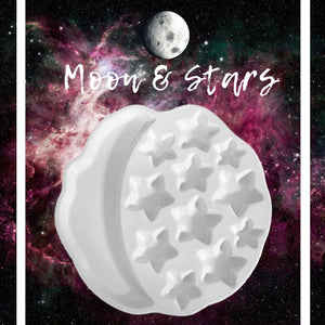 Moon and stars, ceramic Palette, palette