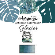 Glacier, mica, teal/ blue metallic