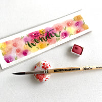 Chinese Vermilion, watercolor paint, handcrafted watercolor