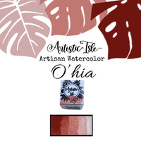 O'hia, ohia, earth red, red, non toxic, handcrafted, watercolor paint