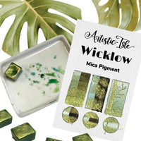 Wicklow, light green metallic, iridescent, chrome