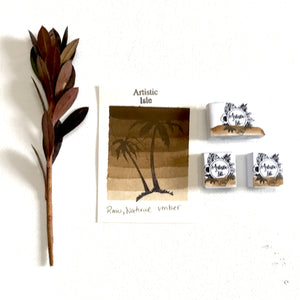 Raw Natural Umber, handmade watercolors