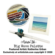 Big Wave Watercolor Palette, palette, wave