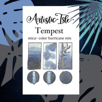 Tempest, hurricane, half pan, deep blue grey metallic