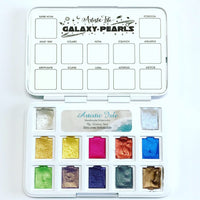 Galaxy Set, metallic watercolors