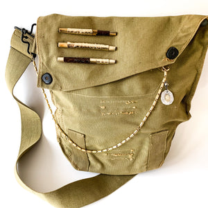 Vintage Army Crossbody Bag