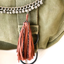 Load image into Gallery viewer, Vintage Army Bag with Tassel