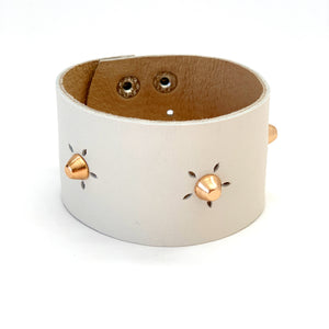 Cream Leather Cuff