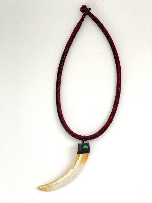 Tusk Leather Necklace