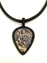 Load image into Gallery viewer, Jasper and Macrame Necklace