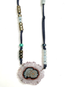 Stalactite Leather Necklace