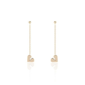 Broken Heart Drop Earring